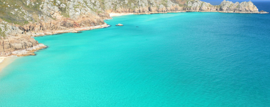 Porthcurno with VW Camper Hire